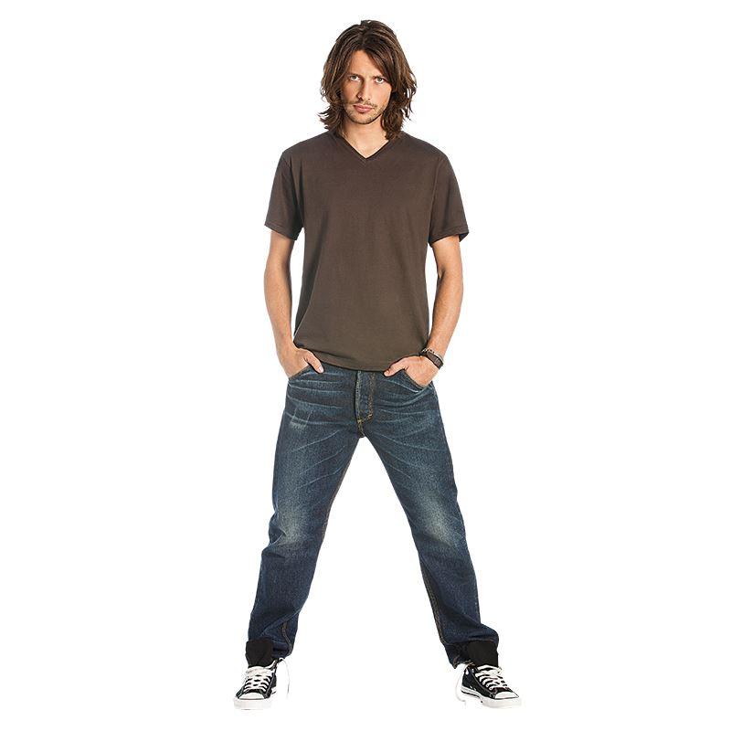 B&C Mick Classic V Neck T-Shirt