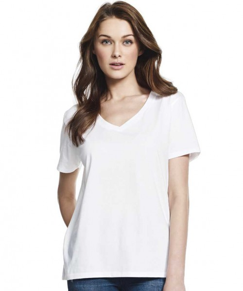 Continental Clothing Women's V-Neck Boyfriend T-Shirt