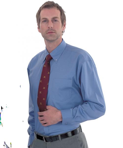 Uneek Mens Long Sleeve Oxford Shirt