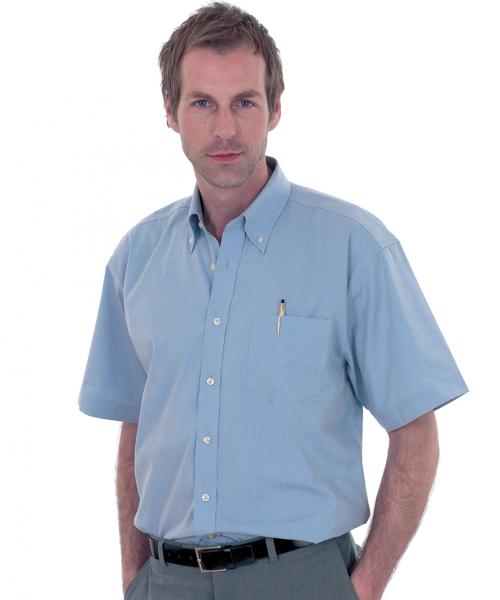 Uneek Mens Short Sleeve Oxford Shirt