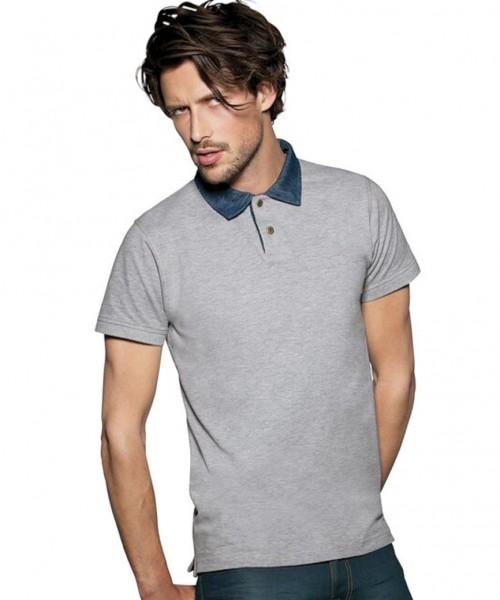 B&C Denim Collection Forward Mens Polo shirt