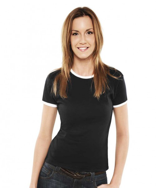 Uneek Ladies Contrast T-Shirt
