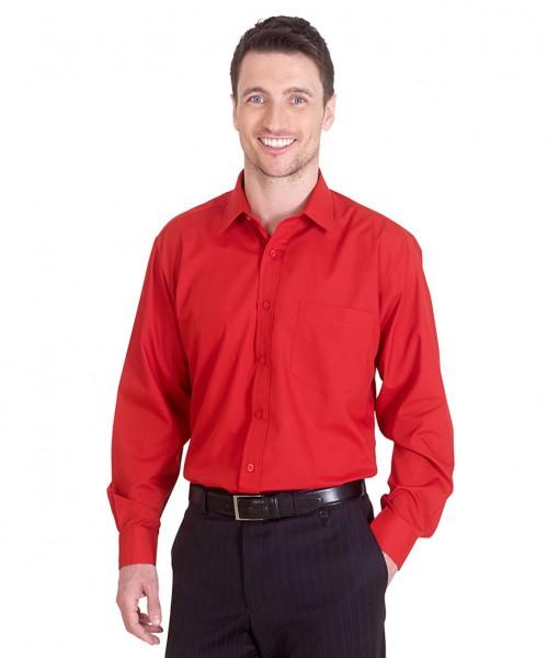 Uneek Mens Poplin L/S Shirt
