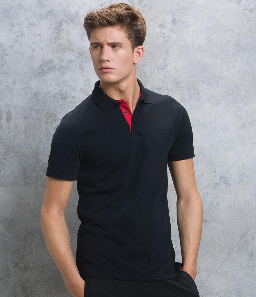 Kustom Kit Klassic Club Style Slim Fit Cotton Pique Polo Shirt