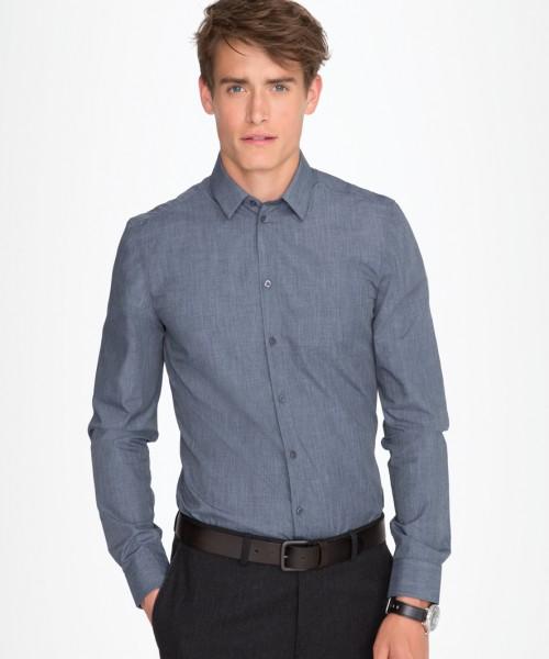 SOL'S Barnet Long Sleeve Heather Poplin Shirt