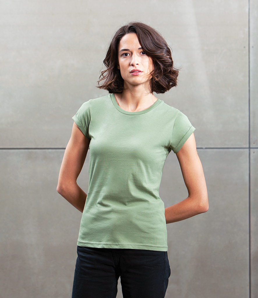 Mantis Organic Roll Sleeve T Shirt: fair trade plain t shirts