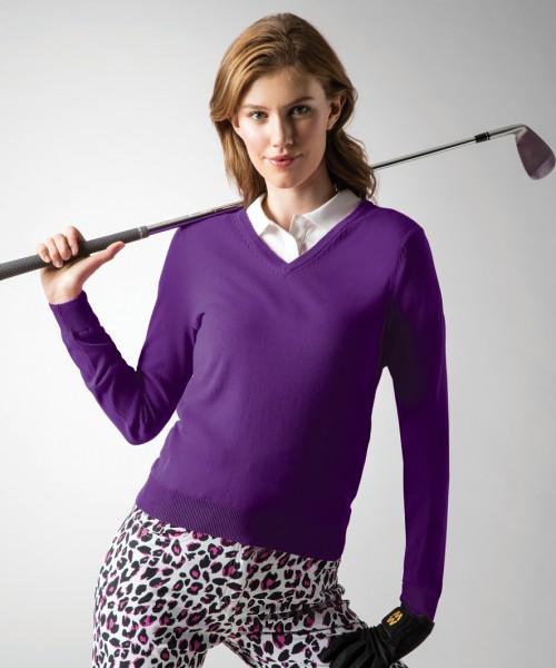 Glenmuir Ladies V Neck Cotton Sweater