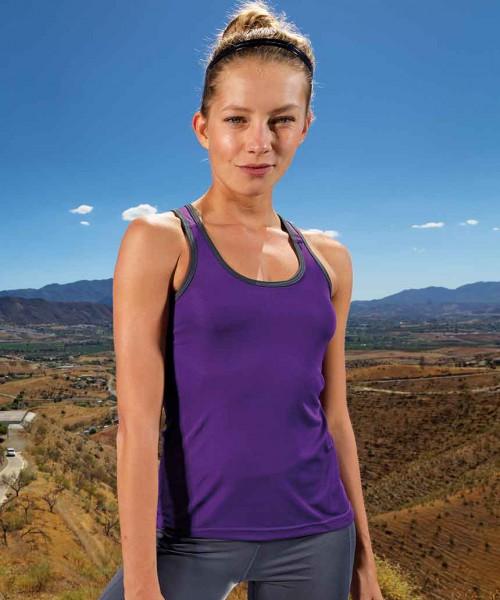 Womens panelled TriDri fitness vest