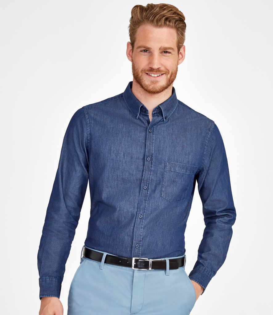 d94c233e97b Denim Shirt Button Down Collar – EDGE Engineering and Consulting Limited