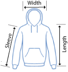 Anvil Hooded T-shirt sizing