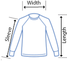 Anvil Sweatshirt size measurments