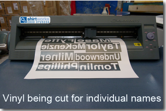 Vinyl Cut Printing for T Shirts & Clothing - Shirtworks