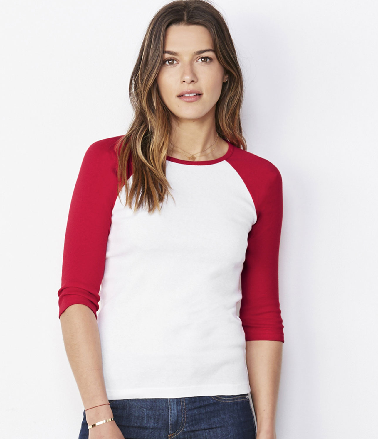 Bella Canvas 3/4 sleeve baseball t-shirt